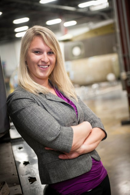 Jackee Mohl is a structural engineer at Boeing working on the V-22 Osprey aircraft.Photo: Boeing