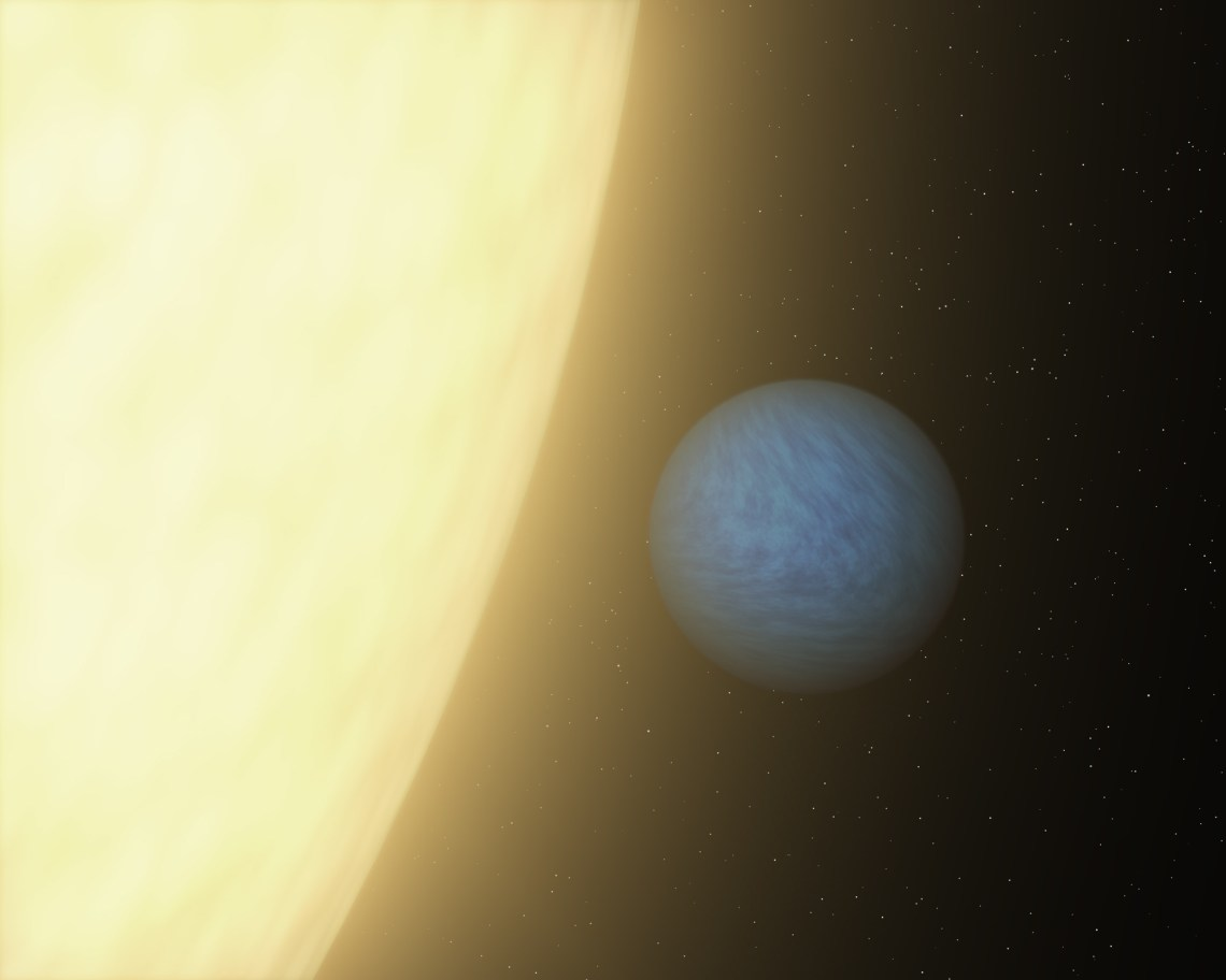 Spitzer was able to detect a super Earth's direct light for the first time using its sensitive heat-seeking infrared vision. Seen here in this artist's concept, the planet is called 55 Cancri e. Data revealed that it is very dark and that its sun-facing side is blistering hot at 3,140 degrees Fahrenheit.  Image: NASA/JPL-Caltech