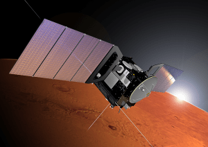 Artist rendering of the Mars Express spacecraft. Credit: Alex Lutkus