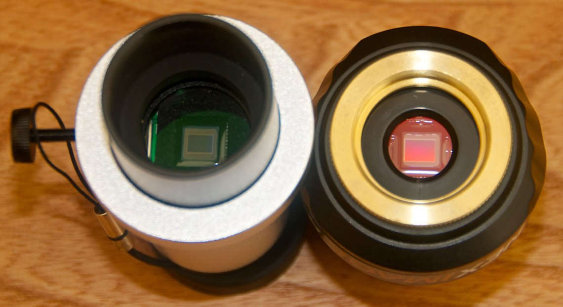 Comparison of the 1.2MP QHY5L-II and 5MP NexImage sensors. Credit: Mike Barrett