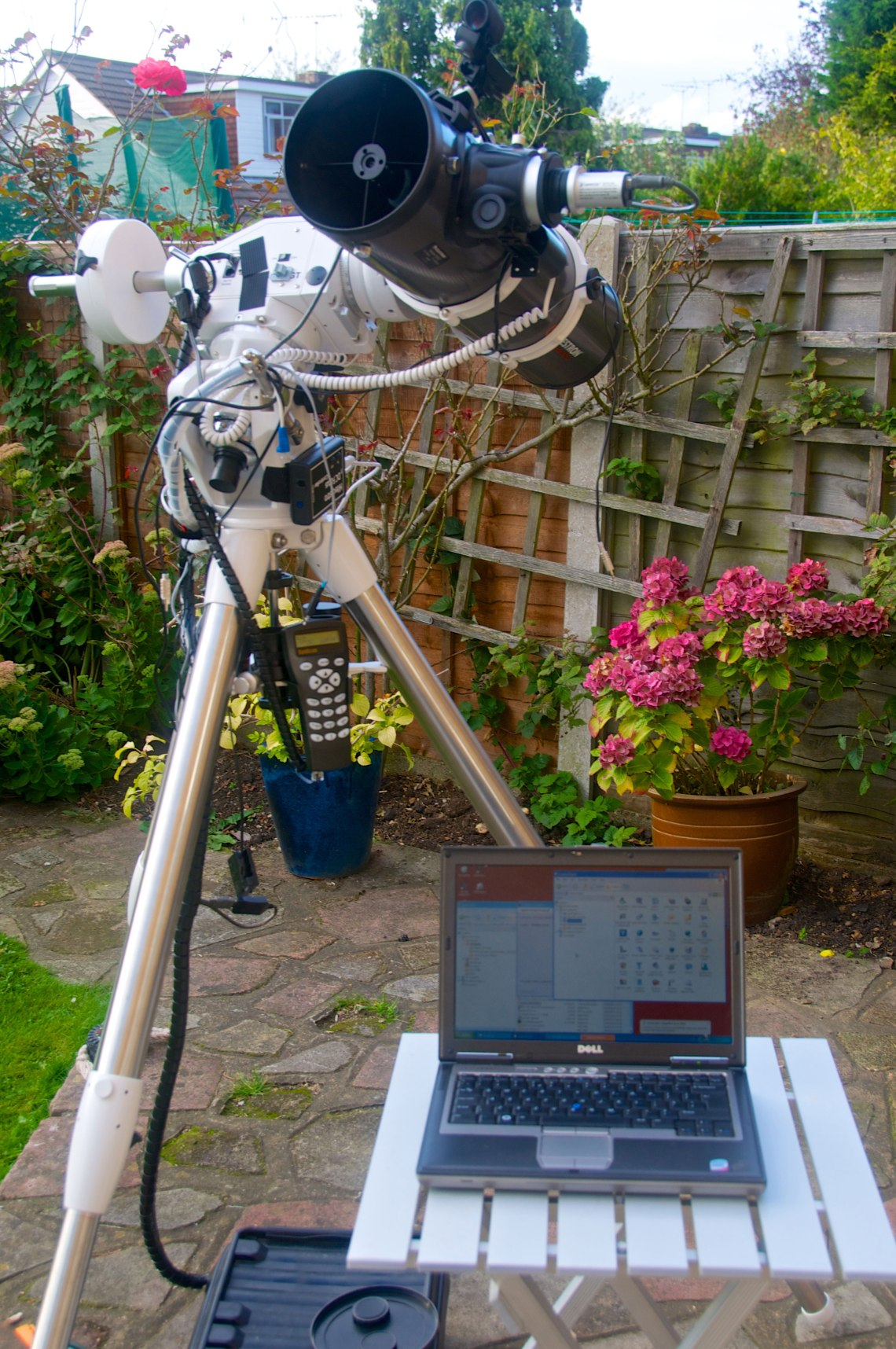All set up and ready for a night of lunar imaging. Credit Mike Barrett