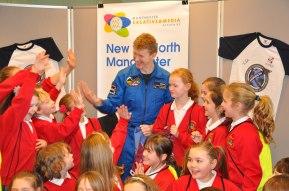 Tim Peake at a Mission X event in United Kingdom. Credit: ESA