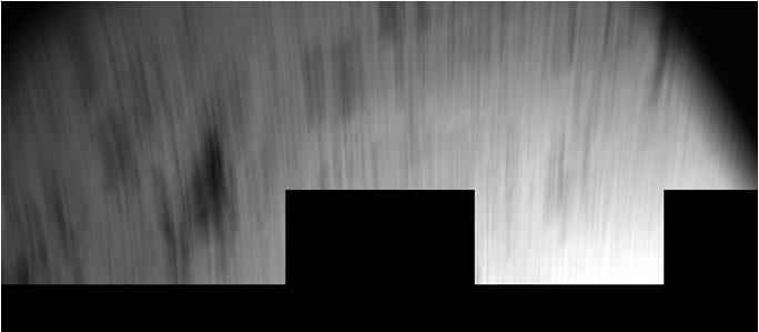Philae's blurred view during its first bounce from the surface of Comet 67P/Churyumov–Gerasimenko on 12 November 2014. The image was taken by the CIVA imaging system on the lander. Credit: ESA/Rosetta/Philae/CIVA