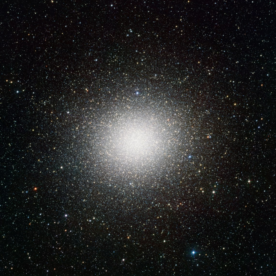 VST image of the giant globular star cluster Omega Centauri. Credit: ESO/INAF-VST/OmegaCAM