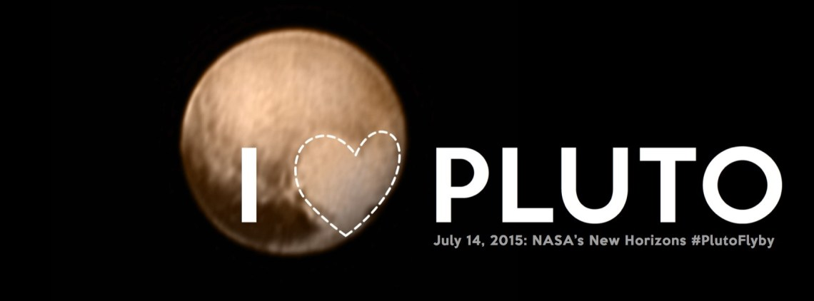 I Heart Pluto: A whimsical, artistic twist on one of the Pluto approach pictures. Credit: NASA/Johns Hopkins Applied Physics Laboratory/Southwest Research Institute
