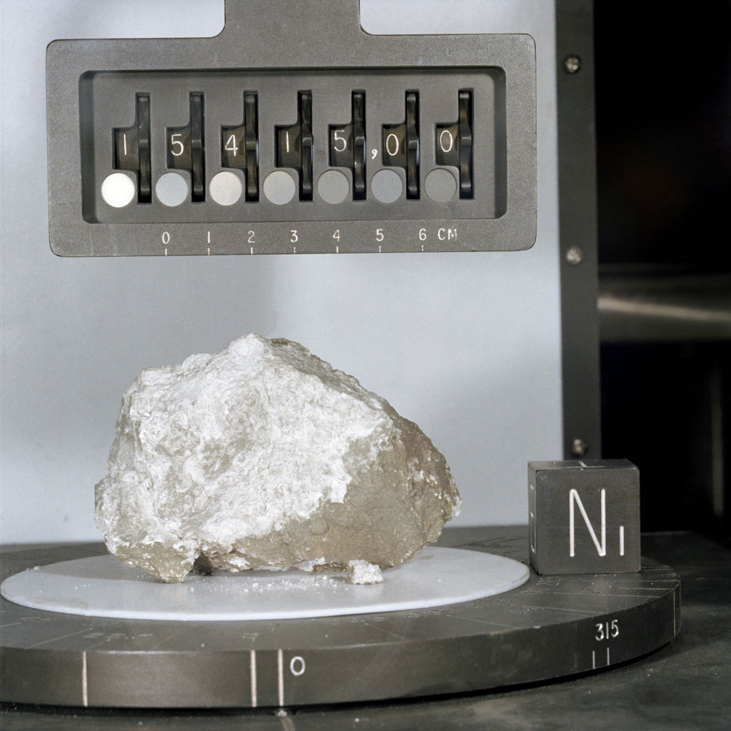 A close-up view of the 'Genesis Rock' collected by astronauts Dave Scott and Jim Irwin on the mission's second moonwalk. Credit: NASA