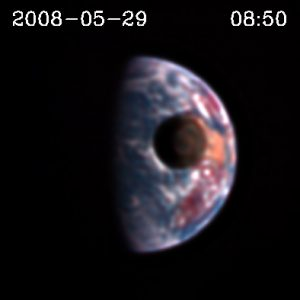 Still frame image from video shot by the Deep Impact spacecraft from 31 million miles away. Credit: NASA