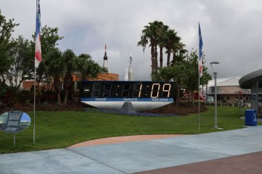 The former NASA Countdown Clock now located at the KSCVC. Credit: Lloyd Campbell