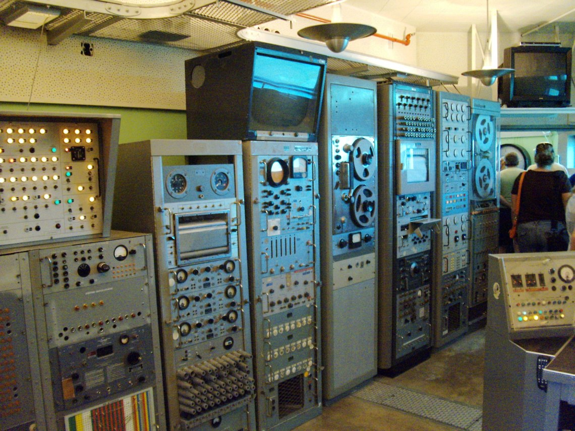 Vintage equipment lines the wall of the blockhouse museums on LC-26 and LC-5/6. Credit: Chase Clark