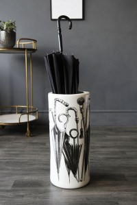 White Ceramic Umbrella Stand - View All - NEW