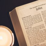 Bible opened to the book of John