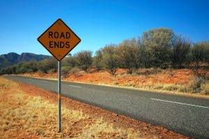 """sign reads """"road ends"""""""