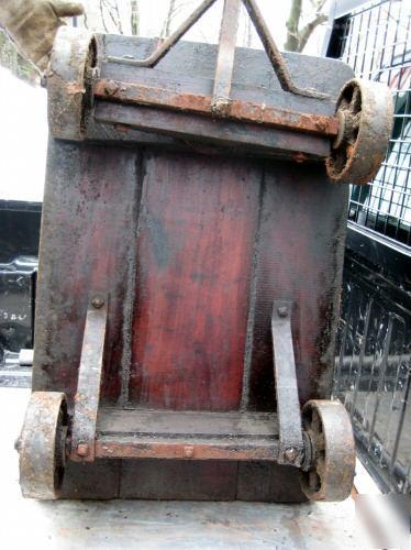 Antique heavy duty railroad luggagebaggage cart  wow