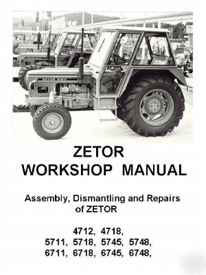 Zetor workshop manual 4712,4718,5711,5718,etc all on cd