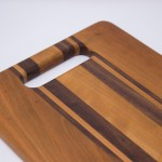 Cherry And Walnut With Handle Cutting Board Rockford Woodcrafts