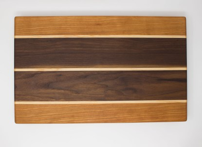 Cherry and Walnut with Maple Stripes Top