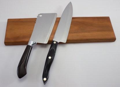 Jatoba Magnetic Knife Holder Front