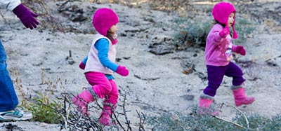 Toddler Twins Go Hiking