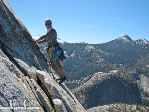 K leading Snake Dike on Half Dome