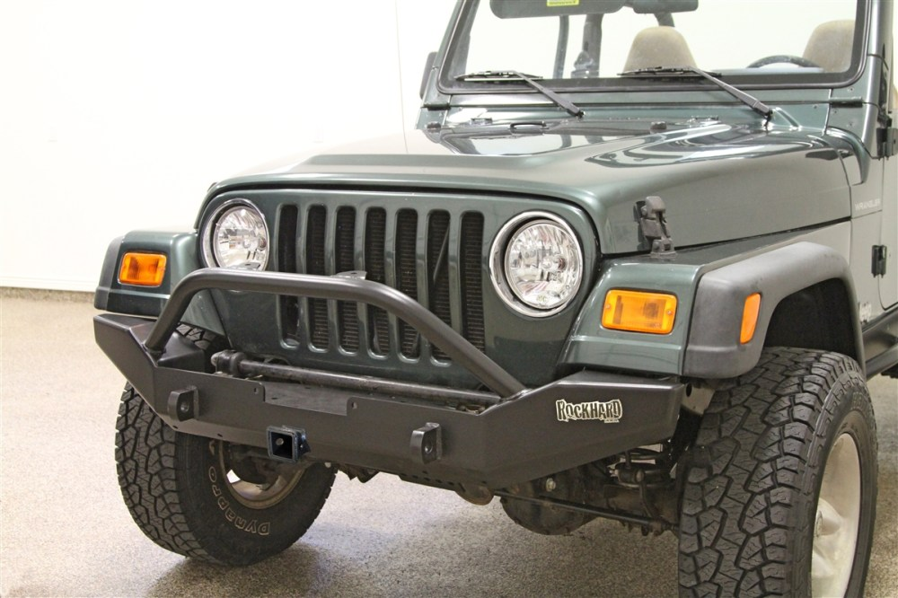 medium resolution of rock hard 4x4 8482 patriot series full width front bumper w receiver for
