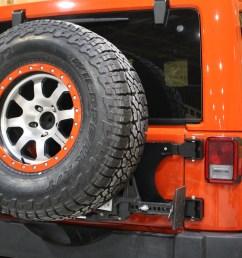 rock hard 4x4 8482 freedom series body mount tire carrier for jeep wrangler jk 2007 2018 rh 5050  [ 1200 x 800 Pixel ]
