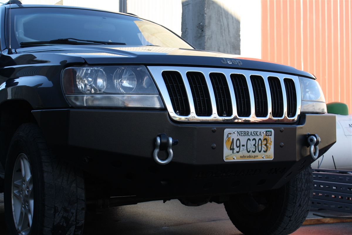 hight resolution of rock hard 4x4 8482 patriot series front bumper for jeep grand cherokee wj 1999 2004 rh 7052