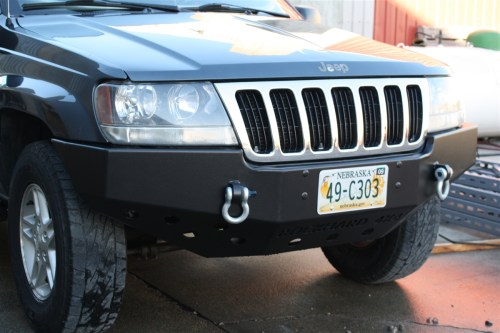 small resolution of rock hard 4x4 8482 patriot series front bumper for jeep grand cherokee wj 1999 2004 rh 7052