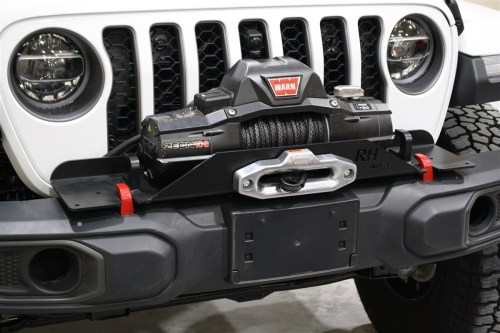 small resolution of rock hard 4x4 8482 winch plate for factory plastic front bumper for jeep wrangler jl 2018