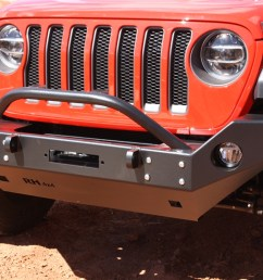 rock hard 4x4 8482 patriot series full width front bumper w lowered winch plate for jeep  [ 1200 x 800 Pixel ]
