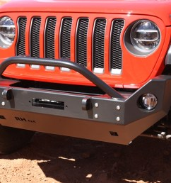 rock hard 4x4 8482 patriot series mid width front bumper w lowered winch plate for jeep  [ 1200 x 800 Pixel ]