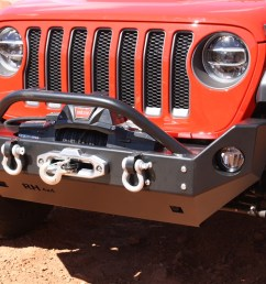 rock hard 4x4 8482 aluminum patriot series mid width front bumper w lowered winch plate for jeep wrangler jl and gladiator jt 2018 current rh 90248  [ 1200 x 800 Pixel ]
