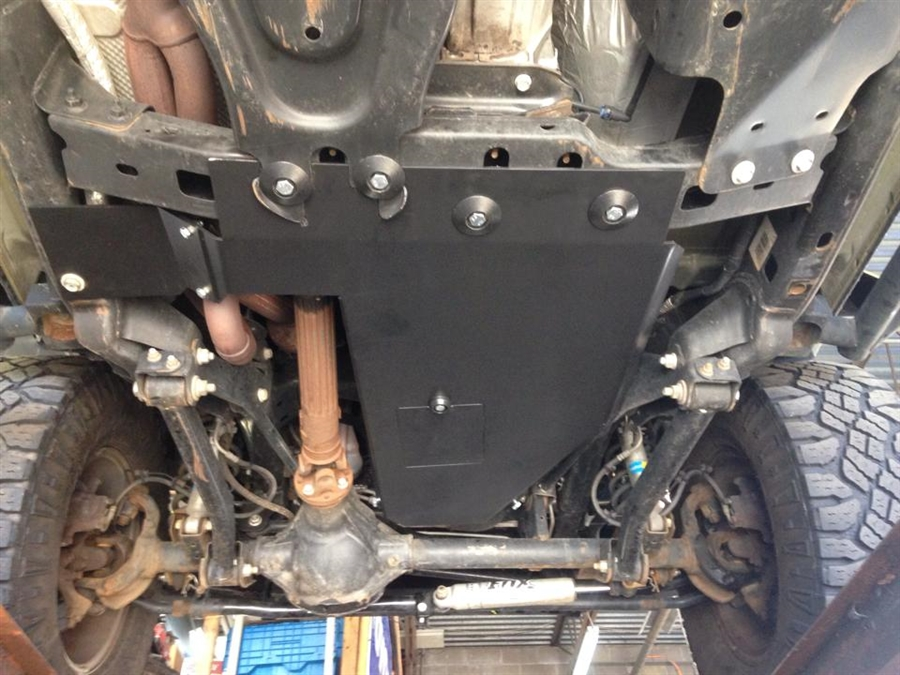 2003 Jeep Wrangler Fuel Filter Location Rock Hard 4x4 Oil Pan Transmission Skid Plate Short