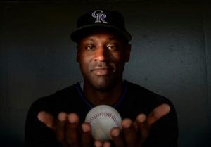 Colorado Rockies relieve pitcher <strong srcset=