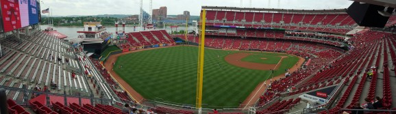 Panoramic view of Great American Ballpark, Cincinnati, OH (Photo by A. Peterson)