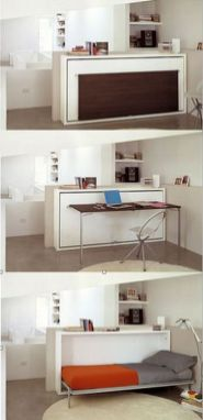 Saving space with creative folding bed ideas 24