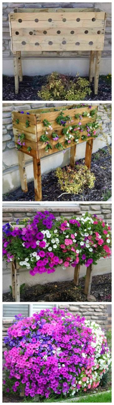 Amazing Creative Wood Pallet Garden Project 40