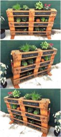 Amazing Creative Wood Pallet Garden Project 53