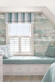 Artistic Pallet, Peel and Stick Wood Wall Design and Decorations 34