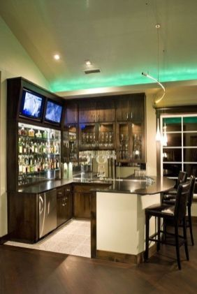 Corner bar cabinet for coffe and wine places 25