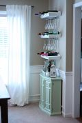 Corner bar cabinet for coffe and wine places 37