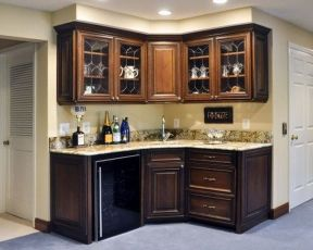 Corner bar cabinet for coffe and wine places 40