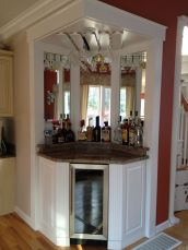 Corner bar cabinet for coffe and wine places 44