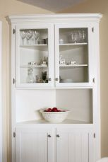 Corner bar cabinet for coffe and wine places 45