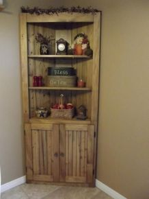 Corner bar cabinet for coffe and wine places 50