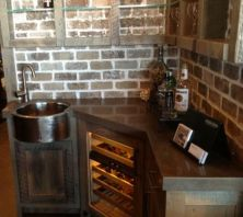 Corner bar cabinet for coffe and wine places 51