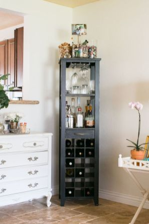 Corner bar cabinet for coffe and wine places 6