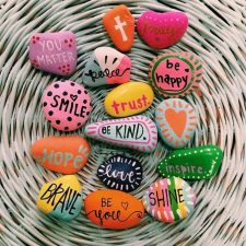 Creative diy painting rock for valentine decoration ideas 25