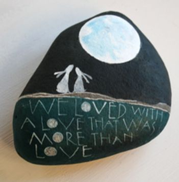 Creative diy painting rock for valentine decoration ideas 43
