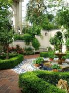 Small courtyard garden with seating area design and layout 56