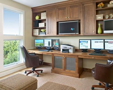 Awesome Built In Cabinet and Desk for Home Office Inspirations 13